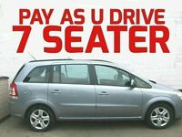 PAY AS YOU DRIVE THIS 2010 VAUXHALL ZAFIRA 1.6 EXCLUSIVE 7 SEATER FROM £15 PER WEEK