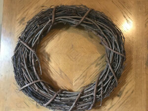 Twig Wreaths 17 Inch Diameter 3 Available New For Crafts Dark Wo