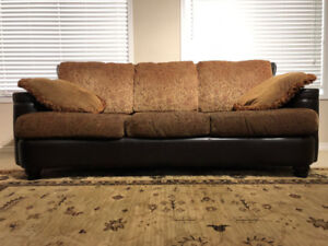 Stylish Designer Couch - Set of 2 - Brown - LIKE NEW
