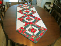 CHRISTMAS Quilted TABLE RUNNER - NEW