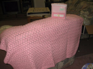 HAND MADE BABY BLANKET AND FLANNEL CRIB SHEET