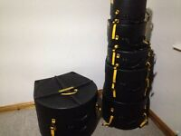 6 piece hard case set for drum kit