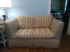 Pet and smoke free great shape couch loveseat  loveseat pullout