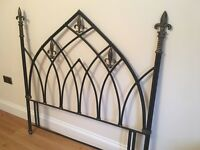 Decorative wrought iron bedstead