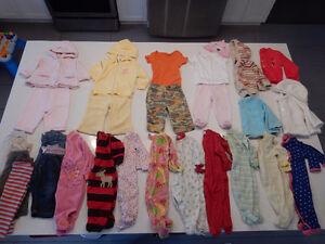 Lot Vêtements fille 6 mois (pyjamas, gilets, pantalons, etc.)