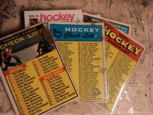 unmarked hockey card checklist collection
