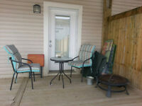 3-piece patio set with cushions
