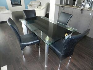 Nice Glass Top Kitchen Table