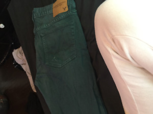 American Eagle Green Jeans SIZE 32
