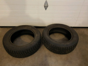2 studded winter tires  215/60/16