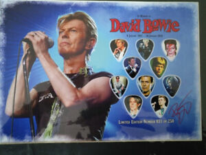 David Bowie Picture / Guitar pick set of 10. # 31 of 250!