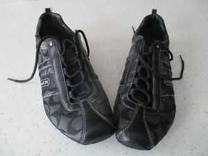"LADIES/ YOUNG ADULT SIZE 7 BLACK  ""COACH"" SHOES/SNEAKERS"