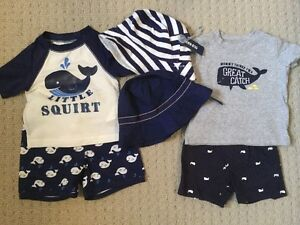 6-12M Boys Summer Whale Bundle