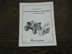 Allis Chalmers rotary Snow Thrower TM-7159 Operators Manual