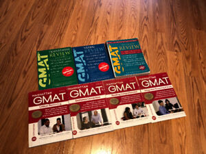 GMAT books including Manhattan GMAT
