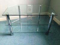 Glass/ chrome tv unit