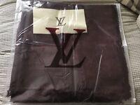 Louis Vuitton scarf shawl pashmina coffee 140x140cm