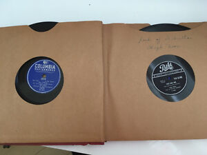 Disques 78 tours Tino Rossy/Georges Guétary/Bourvil