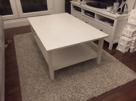 Ikea white large coffee table
