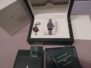 Rolex Oyster Perpetual Datejust 26 Black, diamond hours SOLD