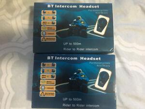 Motorcycle Bluetooth Intercom system x2