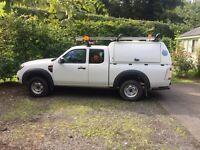 ford ranger 2.5 TDCi 4x4 A/C super cab pick up van 240v lockers roof rack NO VAT