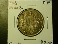 Canada Monnaie 50¢ 1943 Double Die 3 F- 15 À Rabais! Laval / North Shore Greater Montréal Preview