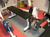 Weight Bench with Leg Extension