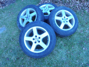 Alloy Rims with snow tires from 2005 Jetta