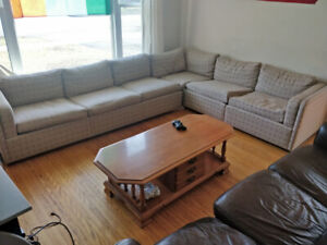 Large L shaped sectional couch