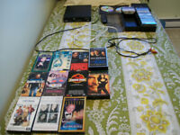 DVD PLAYER,CHORDS,TAPES,VHS'S,DVD CASE,DVD'S FOR SALE.view lot$$