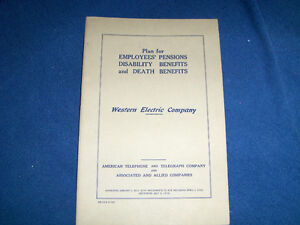 WESTERN ELECTRIC COMPANY-AT&T TELEPHONE-1943 EMPLOYEES PENSIONS