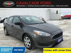 2015 Ford Focus Sedan S with backup cam & snow tires!!!