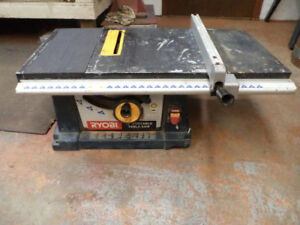 "Construction Site 10"" Ryobi Table Saw"