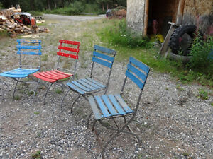 Vintage (almost antique) folding garden/patio chairs Yukon image 5