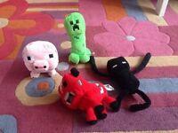 Minecraft soft toy bundle
