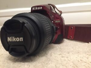 "4975 Count ""Nikon D5200 DSLR"" + 18-55 Lens, Nice Leather Strap"