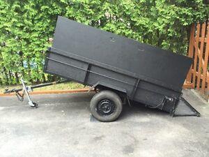 """Remorque à bascule """"dompeur"""" de 4'X8' Dumper utility trailer"""