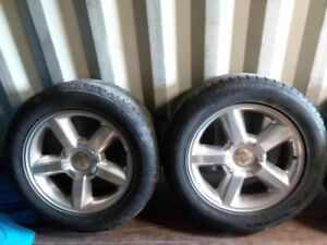 Aluminum Chevrolet Wheels with Rubber