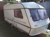 4 berth caravan and awning