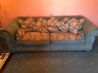 FREE - 2 x large two seater settees - with feather filled cushions