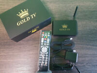 GOLDTV ANDROID BOX WITH 3 MONTHS LIVE TV FOR ONLY $160!!