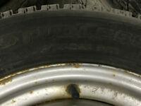 Jante 16 pouces 5x100 avec 4 pneus d'hiver Bridgestone Blizzak