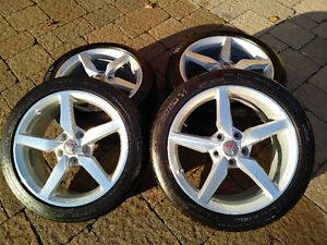 "Corvette staggered set - 19''/18"" rims/tires - $1800.00 Kitchener / Waterloo Kitchener Area image 1"
