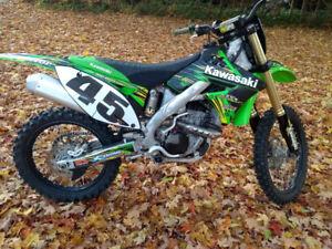Motocross Kawasaki KXF 250 2011 injection échange VS motoneige