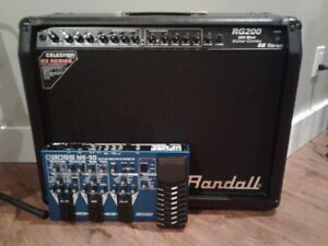 Randall RG200 Guitar Amp with Boss ME-50 Multi Effect Pedal