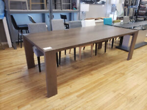 """Solid Wood Dining Table. 94"""" x 42"""". Seats 10. Was $2655 -> $1295"""