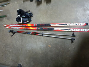 Atomic Pro Biathlon Skis, poles and Salomon boots.