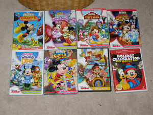 7 Mickey Mouse Clubhouse + 1 Jake & the Neverland Pirates dvds Peterborough Peterborough Area image 1