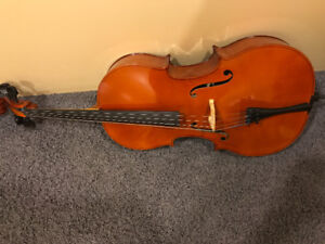 3/4-Sized Cello — includes bow and backpack case